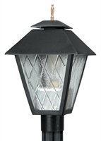 Picture for category Wave 110C70H Colonial Hid Gas Post Light Non Corrosive Durable Polymer 1-light