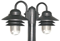 Picture for category Wave S75TC2G18BK Nautical Gas Post Light Non Corrosive Durable Polymer 2-light