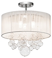 Picture for category Elan 83227 Imbuia Semi Flush steel 3-light