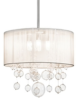 Picture for category Elan 83230 Imbuia Pendants steel 4-light
