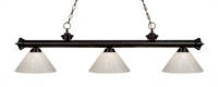 Picture for category Z-Lite 200-3BRZ-PWH Riviera bronze Island Lighting 14in Steel 3-light
