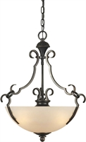 Picture for category Forte 2294-03-64 Forte Lighting Pendant Lanterns 20in Steel 3-light