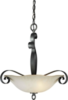 Picture for category Forte 2343-04-11 Forte Lighting Pendant Lanterns 19in Steel 4-light