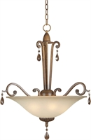 Picture for category Forte 2390-04-41 Forte Lighting Pendant Lanterns 22in Steel 4-light