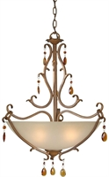 Picture for category Forte 2409-04-41 Forte Lighting Pendant Lanterns 22in Steel 4-light