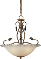 Picture for category Forte 2464-03-41 Forte Lighting Pendant Lanterns 16in Steel 3-light