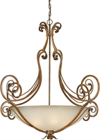 Picture for category Forte 2477-06-41 Forte Lighting Pendant Lanterns 43in Steel 6-light