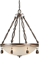 Picture for category Forte 2496-05-27 Forte Lighting Pendant Lanterns 26in Steel 5-light