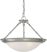 Picture for category Forte 2515-03-55 Forte Lighting Pendant Lanterns 18in Steel 3-light