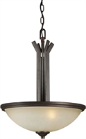 Picture for category Forte 2254-03-32 Forte Lighting Pendant Lanterns 17in Steel 3-light