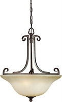 Picture for category Forte 2303-04-32 Forte Lighting Pendant Lanterns 20in Steel 4-light