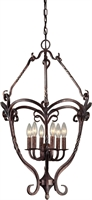 Picture for category Forte 2312-06-27 Forte Lighting Pendant Lanterns 19in Steel 6-light