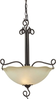 Picture for category Forte 2363-04-32 Forte Lighting Pendant Lanterns 21in Steel 4-light