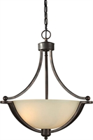 Picture for category Forte 2374-03-32 Forte Lighting Pendant Lanterns 18in Steel 3-light