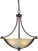 Picture for category Forte 2374-04-32 Forte Lighting Pendant Lanterns 23in Steel 4-light