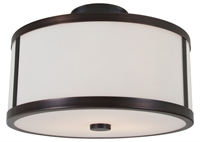 Picture for category DVI DVP1113ORB-OP Uptown Flush Mounts 8in 2-light