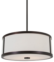 Picture for category DVI DVP1120ORB-OP Uptown Pendants 8in 3-light