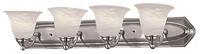 Picture for category DVI DVP42404SN Diamond Vanity Lighting 6in 4-light