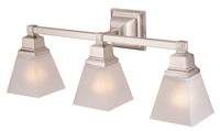 Picture for category DVI DVP7643SN Aurora Vanity Lighting 8in 3-light