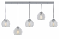 Picture for category DVI DVP13202CH-CL Oberon Mini Pendants 8in 5-light