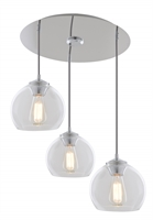Picture for category DVI DVP13253MO-CL Oberon Pendants 8118in 3-light
