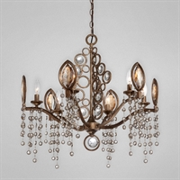 Picture for category Eurofase 25655-018 Capri Chandeliers BRONZE 6-light