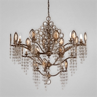 Picture for category Eurofase 25657-012 Capri Chandeliers BRONZE 21-light