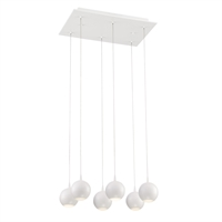 Picture for category Eurofase 28168-010 Patruno Chandeliers 12in MATTE WHITE 6-light