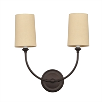 Picture for category Crystorama 2242-DB Sylvan Wall Sconces 16in Dark Bronze Steel 2-light