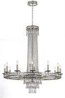 Picture for category Crystorama 5269-OS-CL-MWP Mercer Chandeliers 43in Olde Silver Wrought Iron