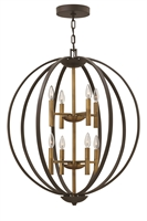 Picture for category Hinkley 3468SB Euclid Chandeliers 28in Spanish Bronze Steel 8-light