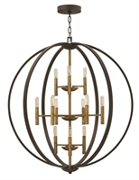 Picture for category Hinkley 3469SB Euclid Chandeliers 36in Spanish Bronze Steel 12-light