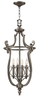 Picture for category Hinkley 4254PL Plymouth Chandeliers 18in Polished Antique Nickel Metal 4-light