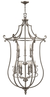 Picture for category Hinkley 4259PL Plymouth Chandeliers 30in Polished Antique Nickel Metal 9-light