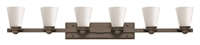 Picture for category Hinkley 5556KZ Avon Bath Lighting 48in Buckeye Bronze Steel 6-light