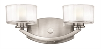 Picture for category Hinkley 5592BN-LED Meridian Bath Lighting 14in Brushed Nickel Metal 2-light