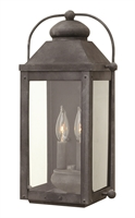 Picture for category Hinkley 1854DZ Anchorage Outdoor Lighting Lamps 9in Aged Zinc Aluminum 2-light