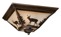 Picture for category Vaxcel CC55414BBZ Bryce Flush Mounts 14in Burnished Bronze Steel 3-light