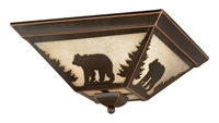 Picture for category Vaxcel CC55714BBZ Bozeman Flush Mounts 14in Burnished Bronze Steel 3-light