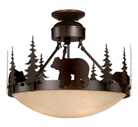Picture for category Vaxcel CF55718BBZ Bozeman Semi Flush 19in Burnished Bronze Steel 3-light
