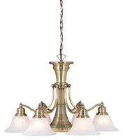 Picture for category Vaxcel CH30307A Standford Chandeliers 26in Antique Brass Steel 6-light