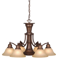 Picture for category Vaxcel CH30307RBZ Standford Chandeliers 26in Royal Bronze Steel 7-light