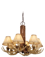 Picture for category Vaxcel CH33006NS Lodge Chandeliers 22in Noachian Stone Poly Resin 6-light