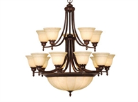 Picture for category Vaxcel CH33320AZ Brussels Chandeliers 34in Aztec Bronze Steel 15-light