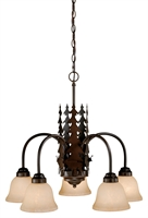 Picture for category Vaxcel CH55405BBZ Bryce Chandeliers 26in Burnished Bronze Steel 5-light