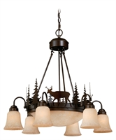 Picture for category Vaxcel CH55406BBZ Bryce Chandeliers 29in Burnished Bronze Steel 9-light