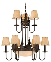 Picture for category Vaxcel CH55709BBZ Bozeman Chandeliers 31in Burnished Bronze Steel 93-light