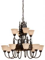 Picture for category Vaxcel CH55712BBZ Bozeman Chandeliers 39in Steel 12-light