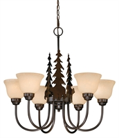 Picture for category Vaxcel CH55756BBZ Bozeman Chandeliers 28in Burnished Bronze Steel 6-light