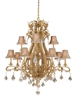 Picture for category Vaxcel EP-CHS012PP Empire Chandeliers 43in Steel 12-light